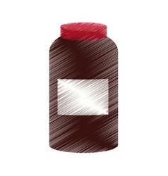 Jar with dark content icon image vector