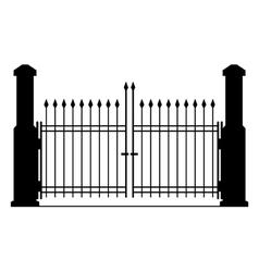 Metal gate silhouette vector image