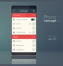 phone design concept vector image