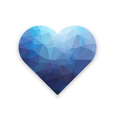 Polygonal heart Low poly valentines day vector image