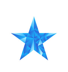 polygonal star background vector image vector image