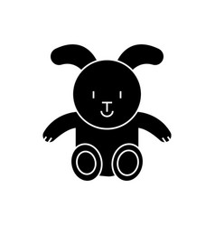 rabbit icon black sign on vector image vector image