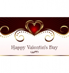 romantic card for valentines day vector image vector image
