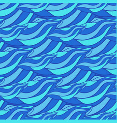 Seamless pattern with wave hand drawn pattern vector