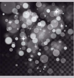 special light effect of bokeh and sparkles vector image