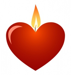 valentine candle vector image vector image