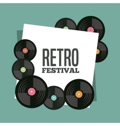Vinyl icon retro and music design graphic vector