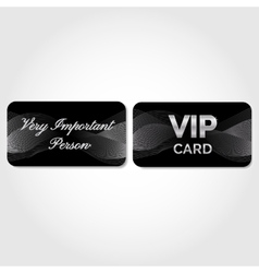VIP Card with silver abstract pattern vector image