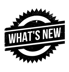What s new rubber stamp vector