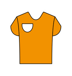 Yellow shirt design vector