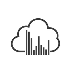 Cloud computing data center isolated icon vector