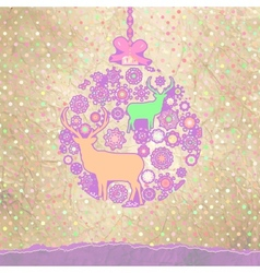 Christmas ornate bauble background vector
