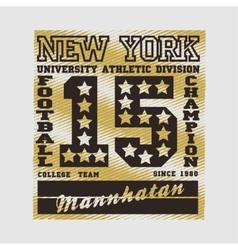 Football new york typography athletic design vector