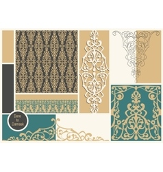 damask mood board vector image