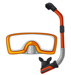 Mask and snorkel for diving vector