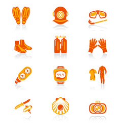Diving icons - juicy series vector