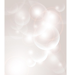 Abstract background with bubbles and light vector