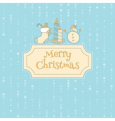 Xmas objects card vector