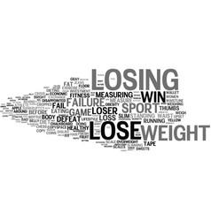 Losing word cloud concept vector