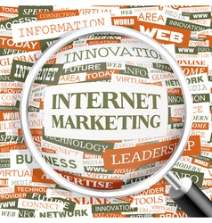 INTERNET MARKETING vector image
