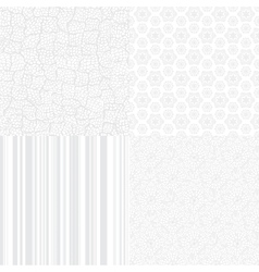 White Textures Set for light design vector image
