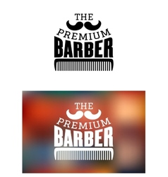 Retro barber shop emblem vector image