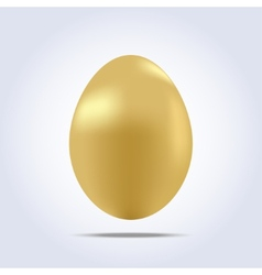 One big golden easter egg icon vector