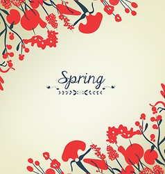 Happy spring flower background vintage vector