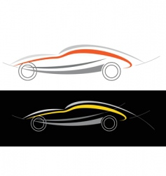 Sport car logo vector