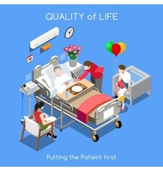 Hospital 01 people isometric vector