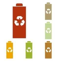 Battery recycle sign vector