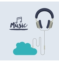 Mobile music design vector