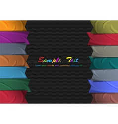 Colorful silk ribbons vector