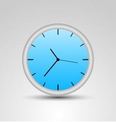 a blue clock vector image vector image