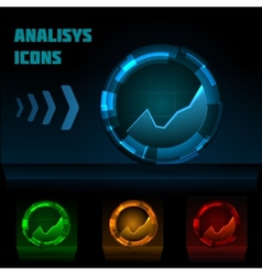 Analysis icon vector image vector image