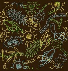 bacteria seamless pattern vector image vector image