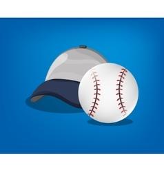 Baseball related icons image vector