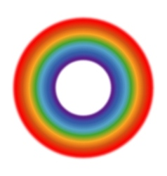 Circle rainbow white background vector