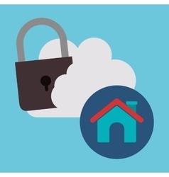 cloud computing design vector image