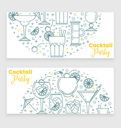 cocktail banner with martini vector image