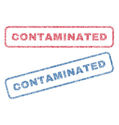 Contaminated textile stamps vector
