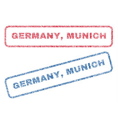 Germany munich textile stamps vector