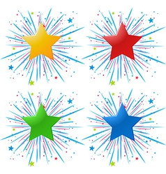 Icon design with different color stars vector image