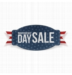Independence Day Sale greeting Label vector image vector image