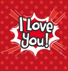 Love Comic Speech Bubble vector image