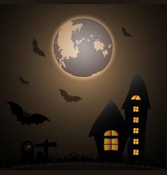 mystery halloween moon night vector image vector image