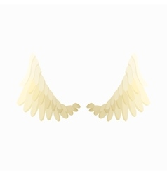 Pair of angel wings icon cartoon style vector image vector image