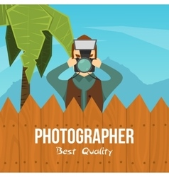 Photographer cartoon character vector