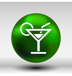 pub wine drinks cold liquid logo cocktail vector image