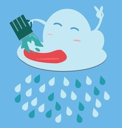 Rain image vector image